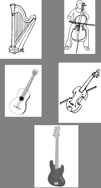 Instrumentos de Cuerdas (ejemplos)